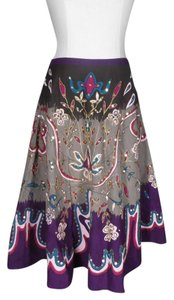 Vero Moda Sequins Embroidery Circle Skirt purple/gray