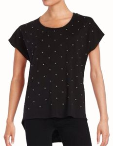 Vince Camuto Studded T Shirt Black