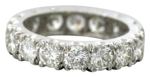 Stunning Ladies 3.86ctw Round Brilliant Diamond Platinum Wedding Band Ring