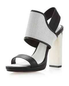 BCBGMAXAZRIA Shopbop Revolve Perforated White Sandals