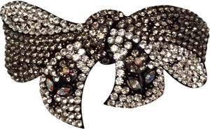 Crystal Embellished Bow Hair Clip