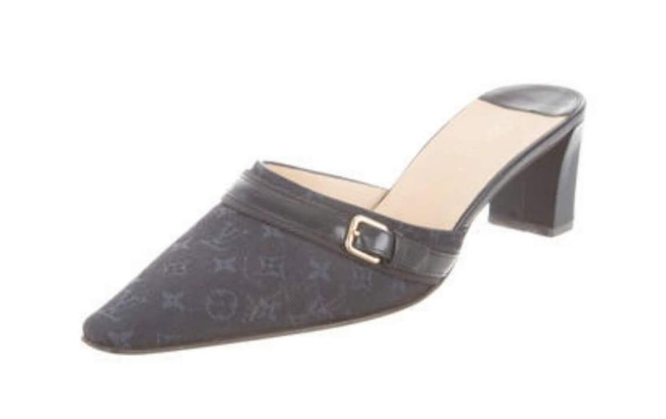 1109583f8c51 Louis Vuitton Lv Lv Lv Idylle Mules Lv Black Monogram dark navy Sandals  Image 0 ...