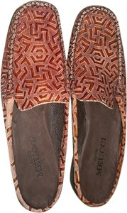 Sesto Meucci Comfortable Patent Leather brown Flats
