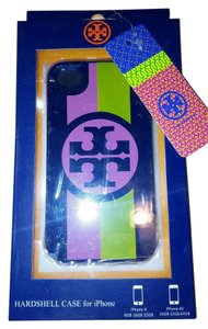 Tory Burch Tory Burch iPhone 4&4S Hardshell Case Black logo yellow pink