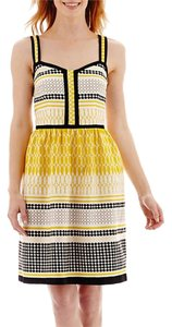 Madison Leigh short dress Yellow /black on Tradesy