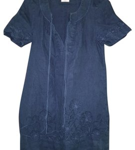Juicy Couture short dress Denim blue washed linen on Tradesy