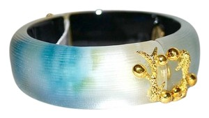 Alexis Bittar Alexis Bittar Lucite Allegory Hinged Bangle Bracelet Turquoise OMBRE
