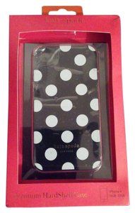 Kate Spade Kate Spade black white dots Premium Hardshell iPhone 4&4s case New in box