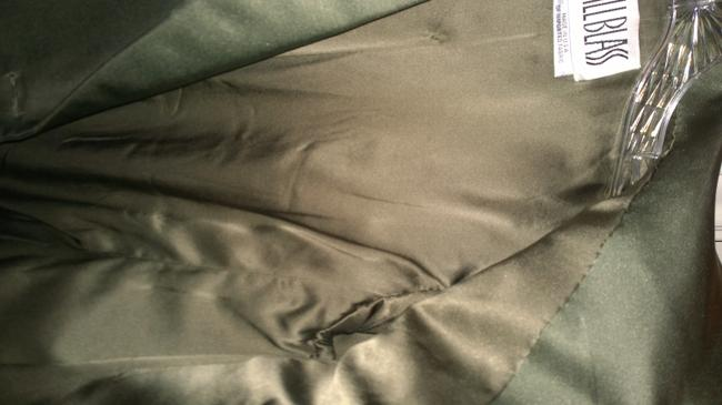 Bill Blass Designer Saks Fifth Avenue Olive Green Silk Blazer