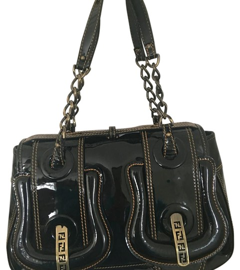 Preload https://img-static.tradesy.com/item/15747508/fendi-b-black-patent-leather-satchel-0-1-540-540.jpg