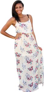 Cream/Floral Maxi Dress by Entourage of 7