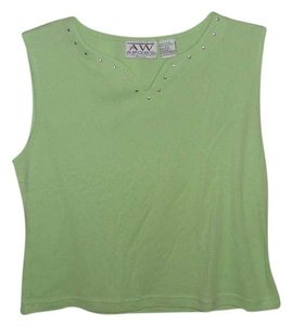Allyson Whitmore Top LIME GREEN