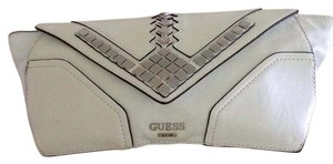 Guess EST.1981 White Color Combined With Silver Studs Clutch