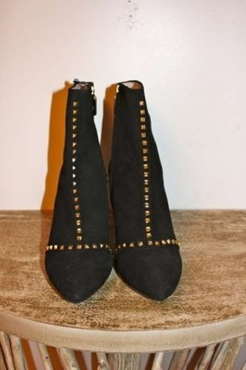 Zara Black Suede Studded Boots