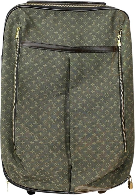 Item - Monogram Anette Carry On Rolling Luggage Olive Green Canvas Weekend/Travel Bag
