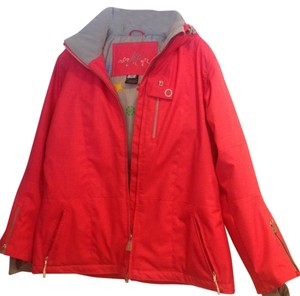 Ski Jacket - Obermeyer Double Zipper Windbreaker Cuffs Air Vent Under Arms Women's Jacket