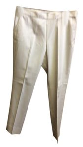 Eileen Fisher Front Zipper Size 10 Comfort Straight Pants White