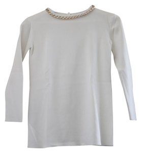Zara Shirt Embellished Collar Sweater