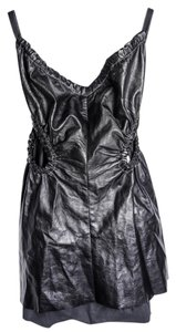 Céline short dress black Leather on Tradesy