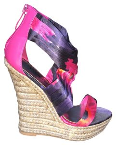bebe Multicolor Wedges