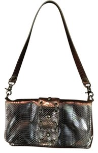 Donald J. Pliner J Metallic Clutch Shoulder Bag