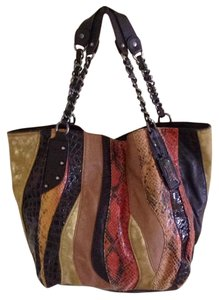 Carlos by Carlos Santana Gold, Brown, Orange , Beige, Red Beach Bag