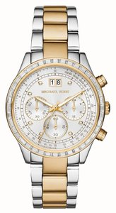 Michael Kors Michael Kors Women's Brinkley Round Two-tone Stain. Steel Bracelet Watch MK6188