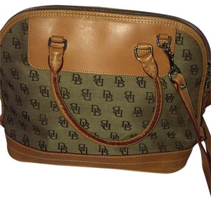 Dooney & Bourke Satchel in Khaki/Lt. Brown