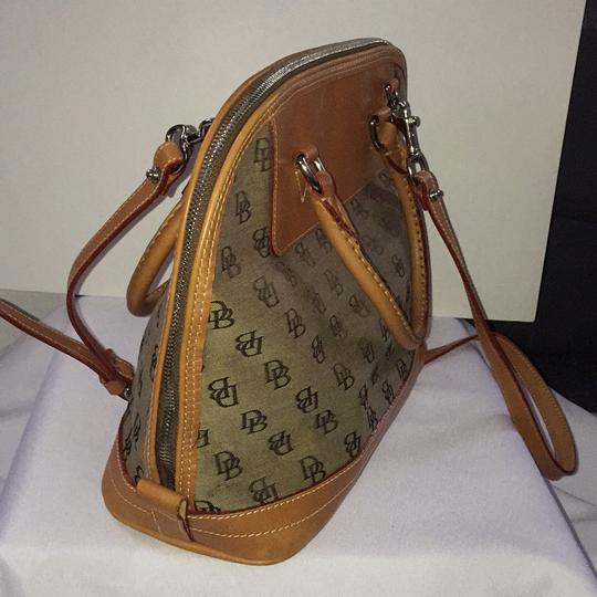 Dooney & Bourke Satchel in Khaki/Lt. Brown Image 1