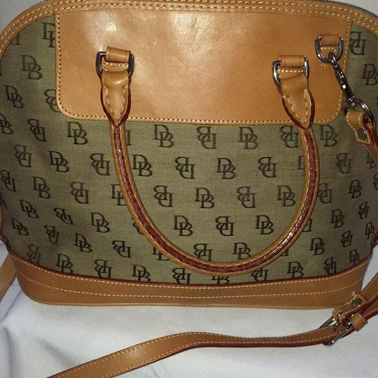Dooney & Bourke Satchel in Khaki/Lt. Brown Image 10