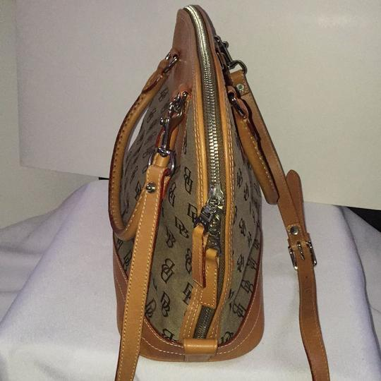 Dooney & Bourke Satchel in Khaki/Lt. Brown Image 2