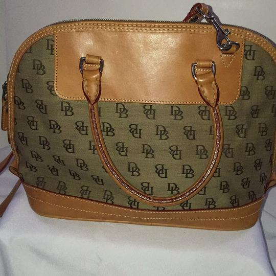 Dooney & Bourke Satchel in Khaki/Lt. Brown Image 3
