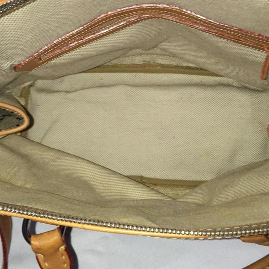 Dooney & Bourke Satchel in Khaki/Lt. Brown Image 4