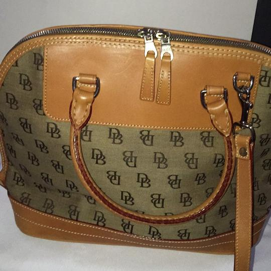 Dooney & Bourke Satchel in Khaki/Lt. Brown Image 8