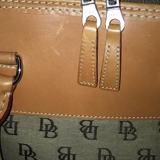 Dooney & Bourke Satchel in Khaki/Lt. Brown Image 9