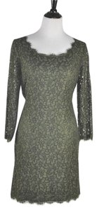 Diane von Furstenberg short dress Green Olive Zarita Lace on Tradesy