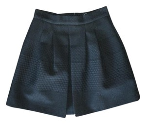 H&M Elegant Chic Mini Mini Skirt Black