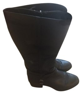 BCBGeneration Leather Riding Tall Botas Black Boots