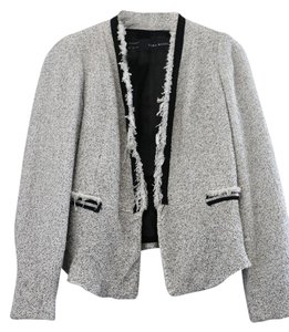 Zara Casual Chic Studded White and Black Blazer