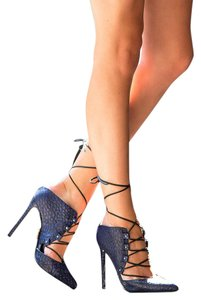Lust For Life Blue Black Pumps