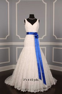 Royal Blue Your Dream Dress Exclusive Double Faced Satin Ribbon Sash
