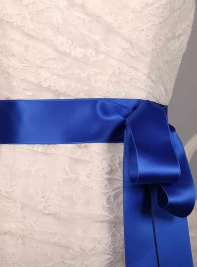 Royal Blue Your Dream Dress Exclusive Double Faced Satin Ribbon Sash Image 1