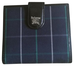 Burberry Navy Plaid Vintage Wallet
