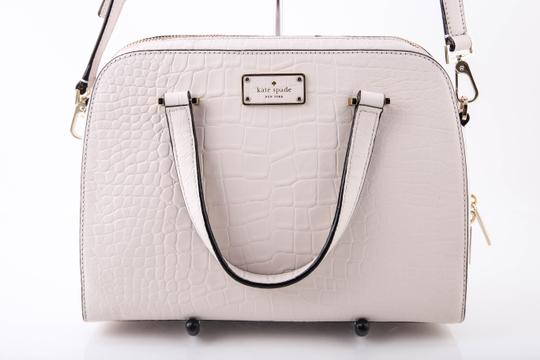 Kate Spade Ivory Felix Small Satchel in White Image 1