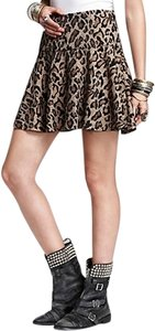 Free People Mini Skirt Leopard