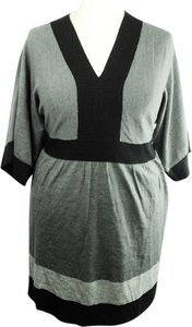 Debbie Morgan Plus Size Fashions Dolman Sleeves Color-blocking Dress