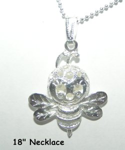 Sterling Silver Plated Bee Necklace Free Shipping