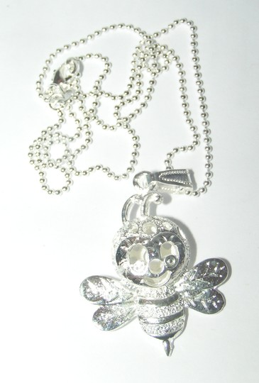 Silver Bogo Free Bumble Bee Free Shipping Necklace