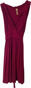 Miuse short dress pink/maroon on Tradesy