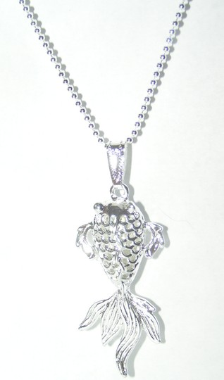 Silver Bogo Free Gold Fish Free Shipping Necklace